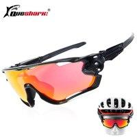 QUESHARK BRAND NEW TR90 Frame Polarized UV Lens Cycling Sunglasses Glasses Bike Bicycle GLasses 3 Lens