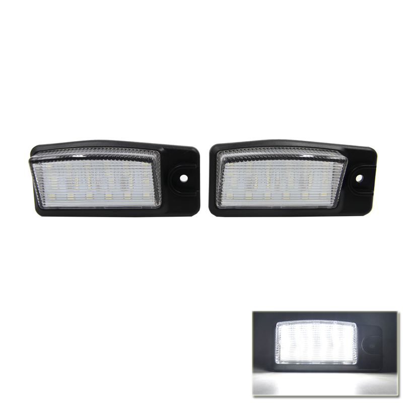 2PCs CANBUS Auto Car <font><b>Led</b></font> Number License Plate Light For <font><b>Nissan</b></font> <font><b>X</b></font>-<font><b>trail</b></font> <font><b>T32</b></font> 2014 2015 For Infiniti FX35 FX50 09-13 Q45 02-06 image