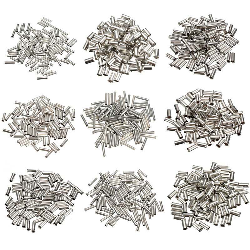 100Pcs/P 0.5mm-16mm 9 Types Bootlace cooper Ferrules kit set Wire Copper Crimp Connector Insulated Cord Pin End Terminal 100pcs lot e7508 bootlace cooper ferrules kit set wire copper crimp connector insulated cord pin end terminal