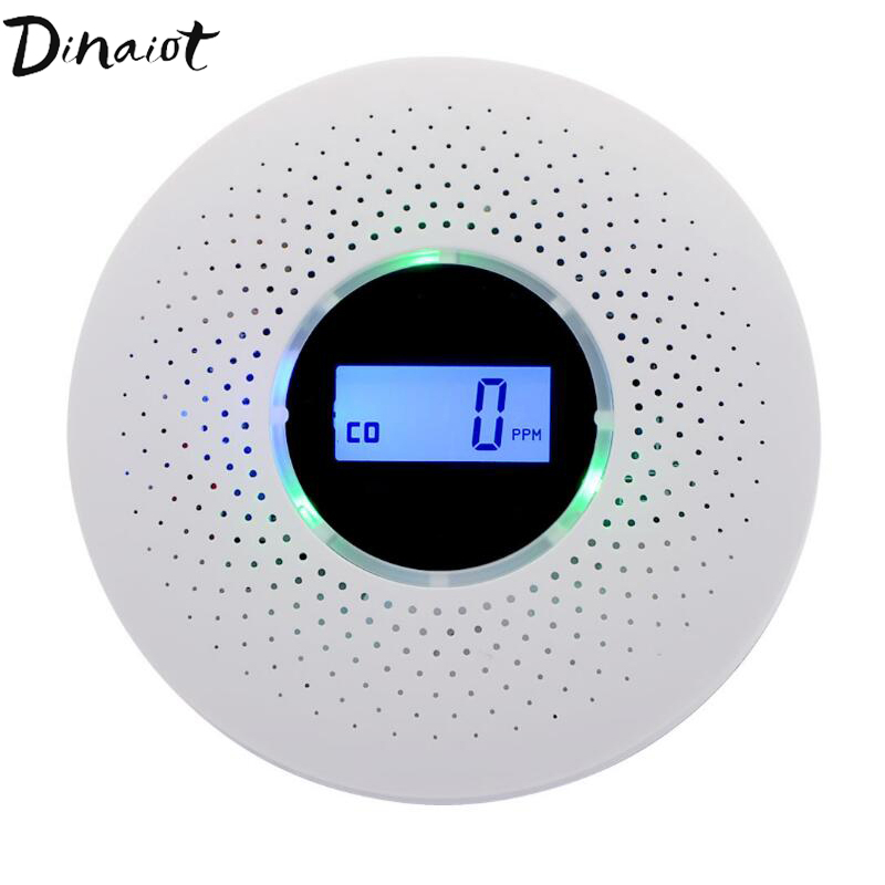 Wireless Smoke & CO Detector Fire Protection Carbon Monoxide Detector Alarm Sensors For Home Security Alarm System with LCD 85