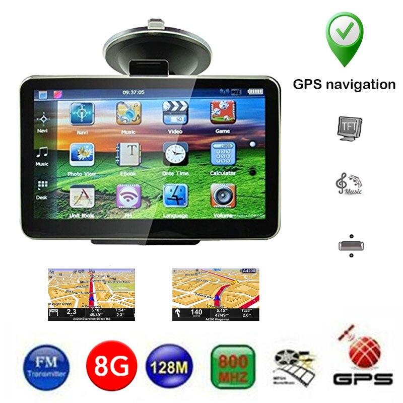 4,3 дюймов 8 Гб система навигации транспортного средства Автомобильный gps навигатор цифровой автомобильный навигатор 128M+ 8G Универсальный Европа Ближний Восток карта Северной Америки