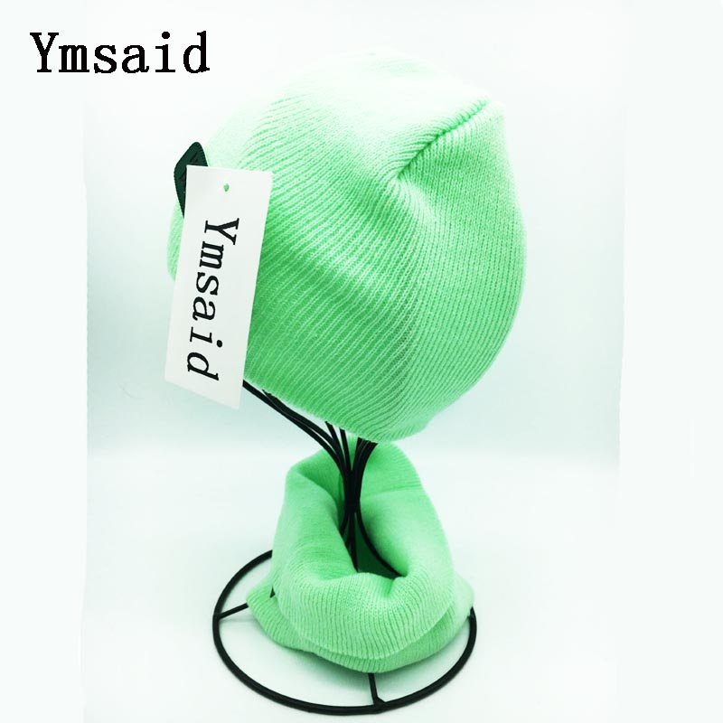 Ymsaid 2017 New Labeling Cotton Boys Girls Baby Kids hats Scarf Two Piece Sets Winter Warm Wear Collars Beanies Cute Cap 2016 winter new soft bottom solid color baby shoes for little boys and girls plus velvet warm baby toddler shoes free shipping