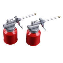 цены на New 250CC Machine Oiler Pump Spray Gun Metal Oiler High Pressure Long Beak Oil Can Pot Hand Tools for Lubricating Airbrush 1 Pcs  в интернет-магазинах