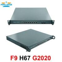 1U network router firewall Intel G2020 Processor Server Firewall Appliance with 6 Ethernet