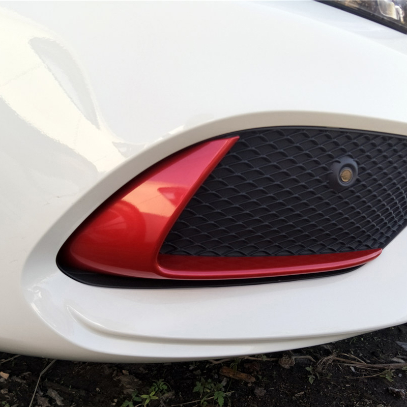 For Mercedes Benz cla chrome w117 C117 Front bumper car stickers modified decorative accessories 2016 2017