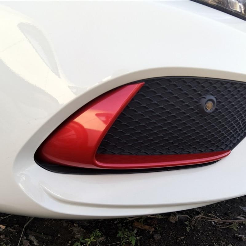 For Mercedes-Benz cla chrome w117 C117 Front bumper car stickers modified decorative accessories 2016-2017-2018