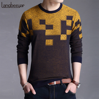2018 New Fashion Brand Sweater Mens Pullover Jacquard Slim Fit Jumpers Knitting Patterns Autumn Korean Style Casual Mens Clothes