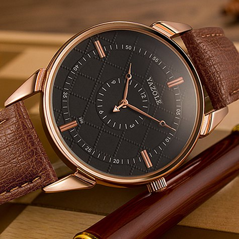New Fashion Double Dial Quartz Watches Men Top Brand Unique Hands Male Clock Business Mens Wrist Watch Hodinky Relogio Masculino disu top brand 2017 men watches fashion simple quartz wrist watch business leather strap male sport rose gold dial clock ds039