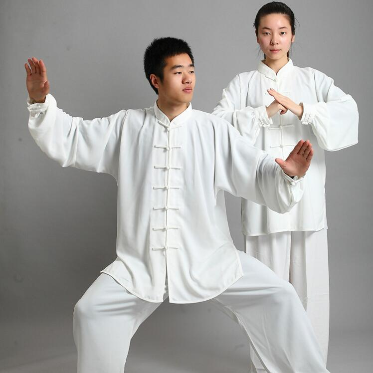 14 Couleurs KungFu Uniformes Tai chi Wushu costume Long Manches des Vêtements Traditionnels Chinois Arts Martiaux Tai Chi Exercice Vêtements Hommes