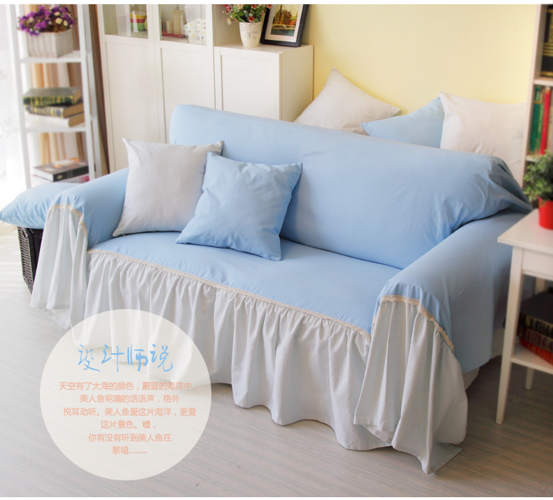 Marine Solid Color Cotton Sofa Cover Light Blue Sofa Cover In Sofa Cover  From Home U0026 Garden On Aliexpress.com | Alibaba Group