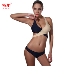 PNT Bandage Micro Bikini Set Swimwear Swimsuit 2017 Sexy Biquinis Bathing Suit Women Low Waist Ope Girls Bikini