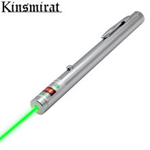 Powerful Green laser sight pointer with Chrome color body lasers 2000m 532nm free shipping(China)