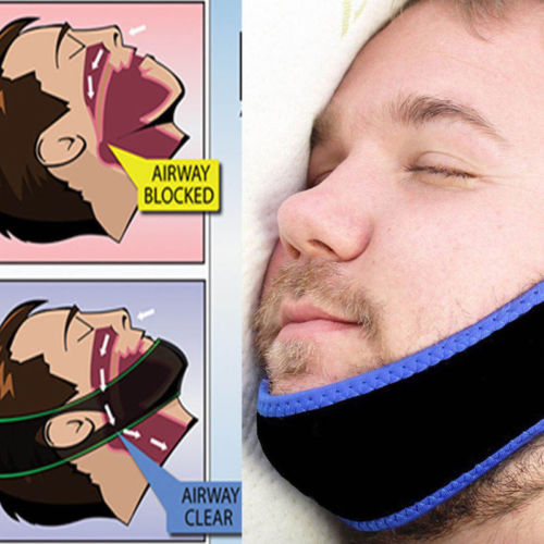 Hot Anti Snore Stop Snoring Sleep Apnea Strap Belt Jaw Solution Chin Support Aid Gift