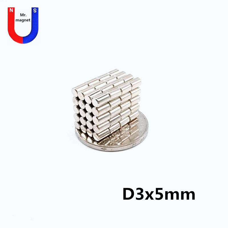 100pcs 3mm x 5mm Super Strong Round Disc Magnets 3*5 3x5 Rare Earth Neodymium Magnet N35 3mm*5mm