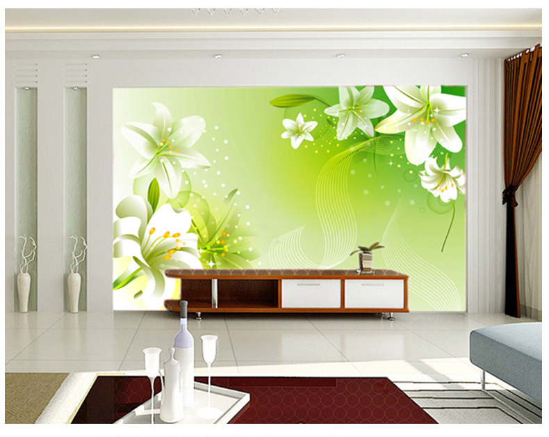 3d stereoscopic large mural custom wallpaper  living room sofa bedroom TV background wall paper non-woven fabric white flowers custom 3d photo wallpaper natural mural waterfalls pastoral style 3d non woven straw paper wall papers living room sofa backdrop