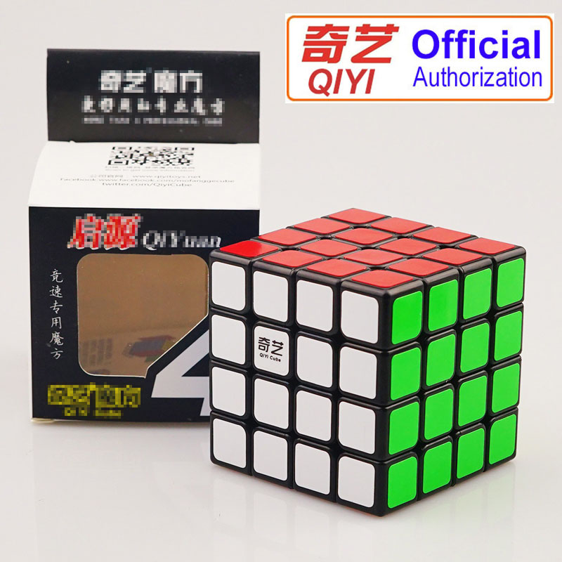 QIYI Brand 4*4*4 Professional Speed Rubiks Cube Magic Cube Educational Puzzle Toys For C ...