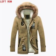 Hot Selling Autumn Winter Long Parka Men Casual Slim Fit Hood Winter Jackets Mens Lovers Coat  Men add wool to keep warm parkas