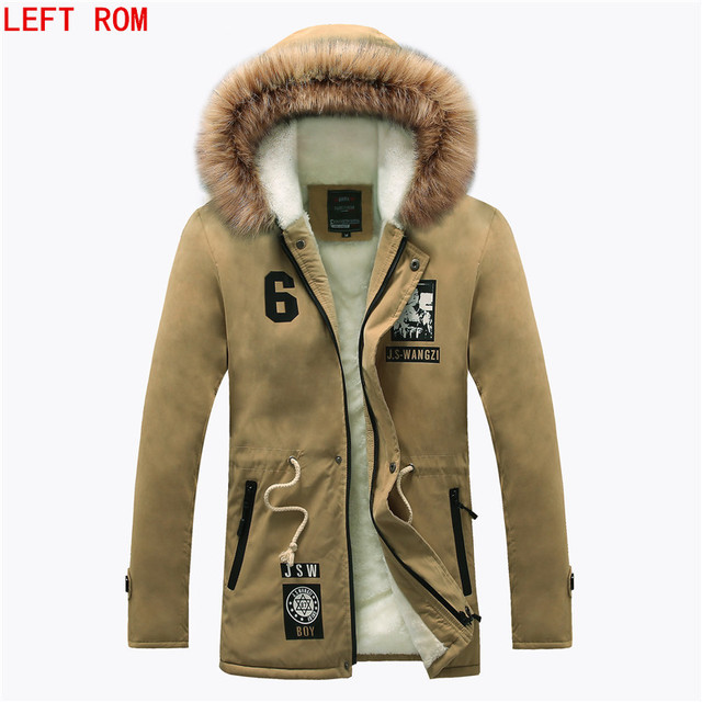 Hot Selling Autumn Winter Long Parka Men Casual Slim Fit Hood ...