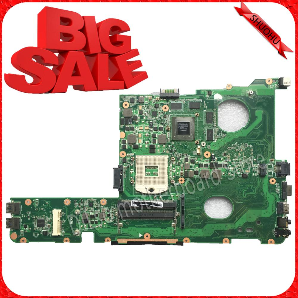 For ASUS N45SF N45SL Laptop motherboard N45SF mainboard REV1.3 with Graphics card 100% tested