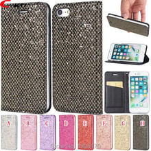 C-ku Magnetic Suck Bling Flip Leather Case For Huawei P9 P10 P8 Lite 2017 P20 Pro Glitter Fashion Wallet Card Phone Cover 1pcs(China)