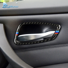 ФОТО airspeed for bmw e90 e92 3 series carbon fiber car interior door handle frame trim  2005-2012 car styling accessories 320i 325i
