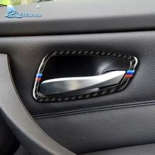 Airspeed pour BMW E90 E92 série 3 en Fiber de carbone voiture intérieur porte poignée cadre garniture 2005-2012 voiture style accessoires 320i 325i