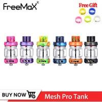 Original Freemax Mesh Pro Tank Atomizer 6ml Carbon Fiber Freemax Mesh Pro Coil Vape Tank Vaporizer Metal Resin Tank 510 Thread