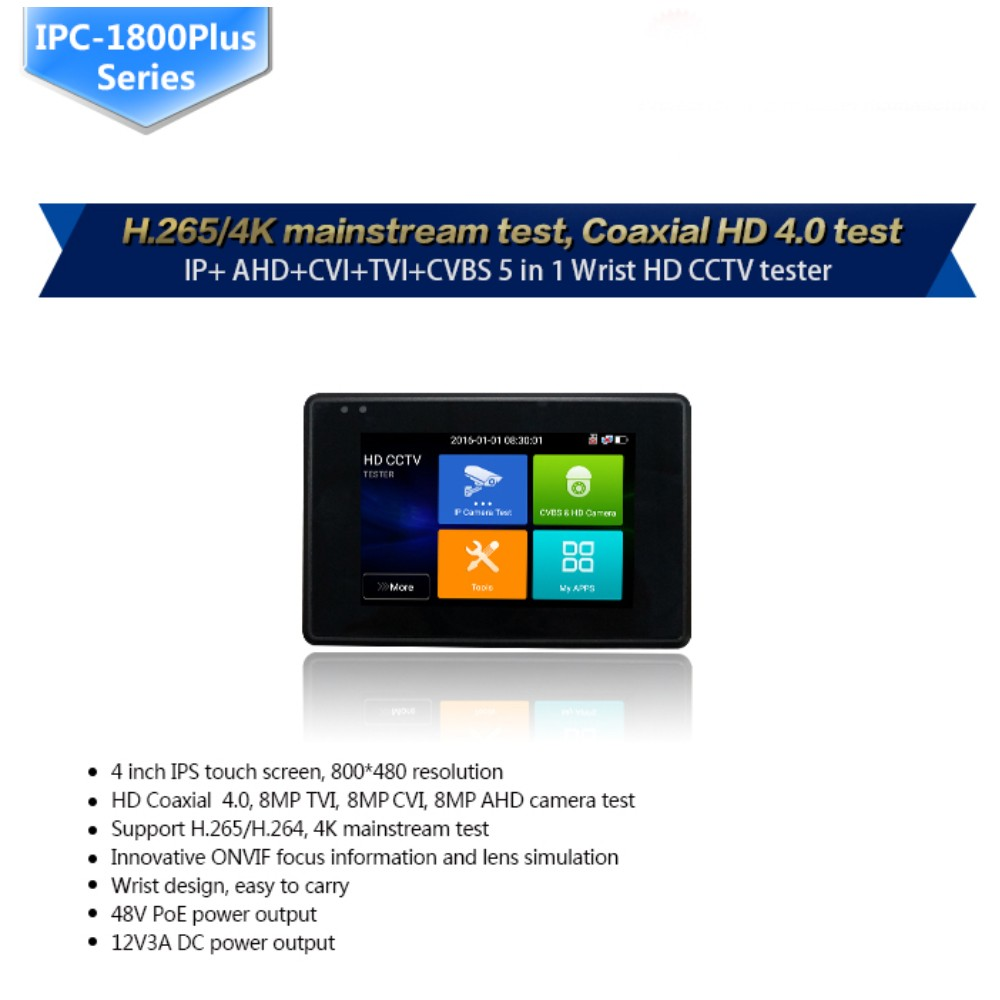 Image 2 - Wanglu Newest 4 inch Wrist CCTV IP Camera Tester H.265 4K IP 8MP TVI 8MP CVI 8MP AHD Analog 5 in 1 CCTV Tester Monitor with WIFI-in CCTV Monitor & Display from Security & Protection