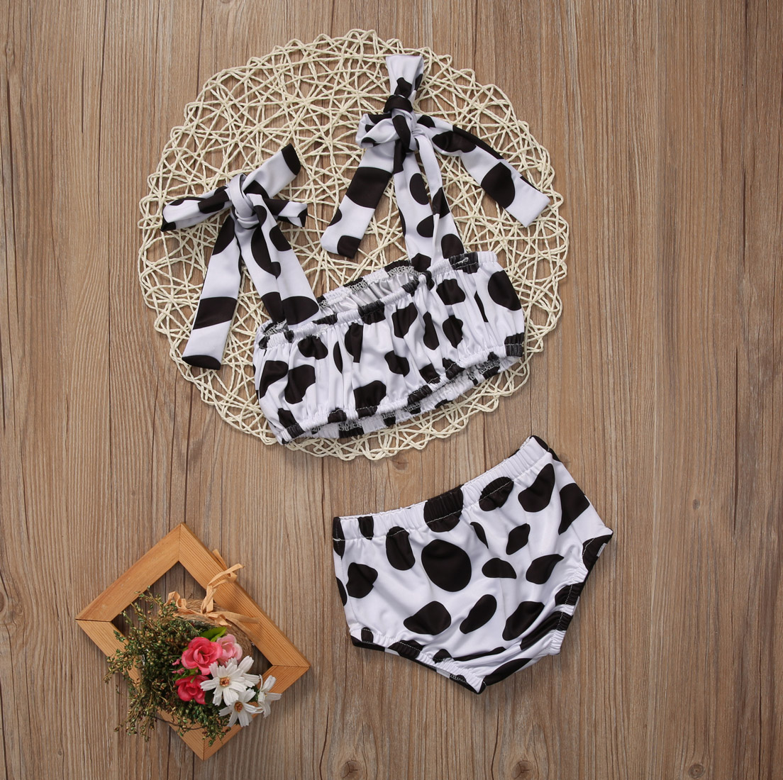 2PCS Kids Baby Girls Bikini Set ujumistrikoo Ujumisriided Tankini - Spordiriided ja aksessuaarid - Foto 6
