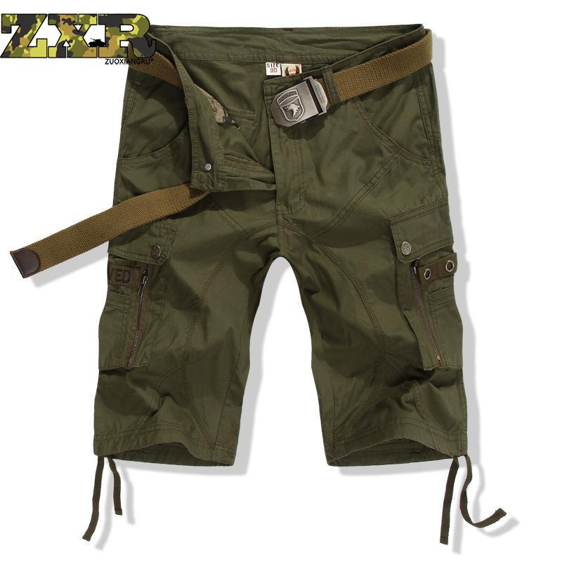 Army Military Fans Shorts Airborne Division Special Forces Seven Points Shorts Men's Tactical Shorts Hiking Shorts Men No Belt