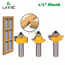 "3pcs 12mm 1/2 ""Shank Frezen Set Kralen Bit Ronde Over Bead Frame Deur T V Vorm frees Voor Hout Power Tools 03028"