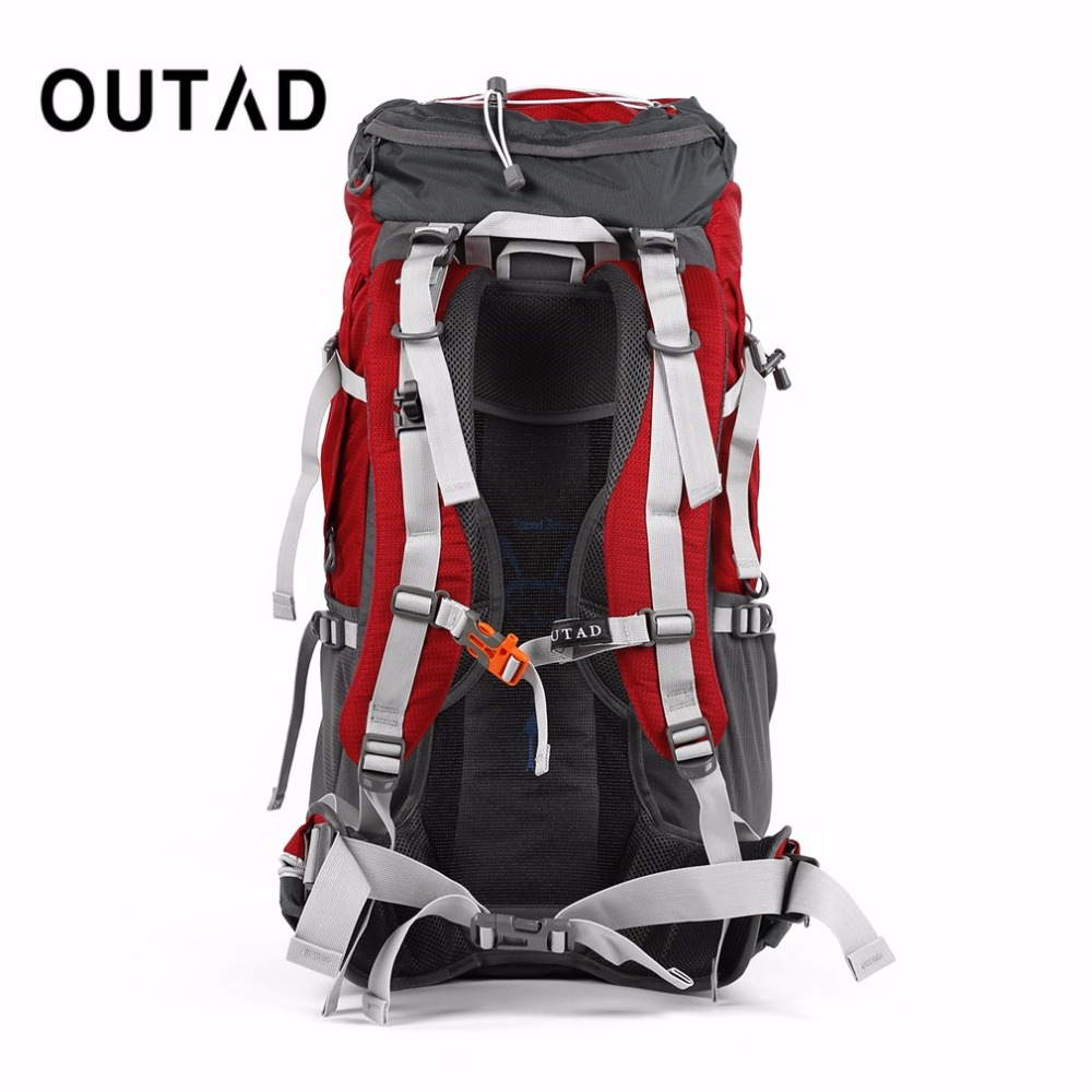 OUTAD 60+5L Outdoor Water Resistant Nylon Sport Backpack Hiking Bag Camping Travel Pack Mountaineer Climbing Sightseeing Hike - 2
