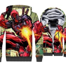 Funny 3D Pattern Hoodies For Men DEADPOOL Super Hero Streetwear Hoody 2018 Autumn Winter Thick Mens Sweatshirts Hoodie Jackets