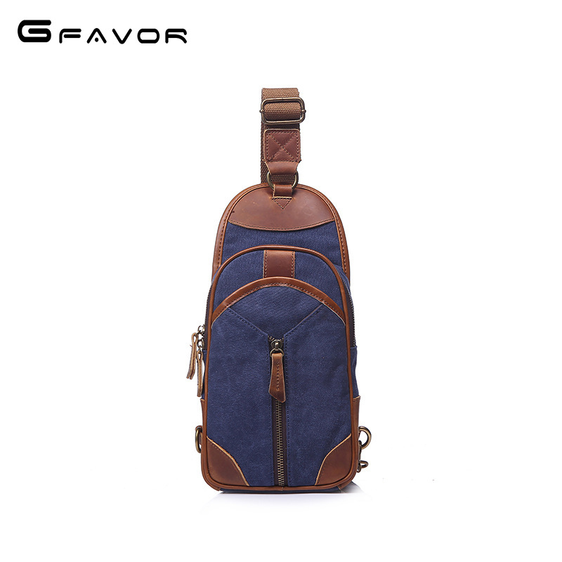 2018 Hot Vintage Canvas Chest Bag Men Zippers Crossbody Shoulder Bag Casual Travel Bag High Quality Fashion Chest Bag For Men vintage canvas chest bag men new crossbody shoulder bag multifunction casual travel bag fashion large capacity chest bag for men