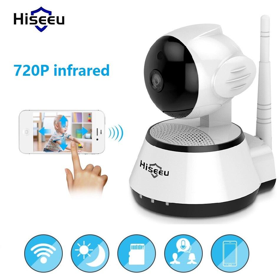 Infrarrojos wi-fi cctv IP cámara inalámbrica bebé Monitor 720 p kamera 32G memoria visto por YYP2P Yoosee Onvif Hiseeu