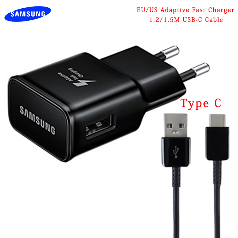 Original Samsung Adaptive S10 Fast Charger USB Quick Adapter 1.2/1.5M TYPE C Cable For Galaxy A50 A30 A70 S8 S9 Plus Note 8 9 10 Lexus RX