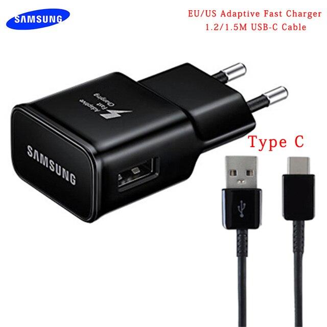 מקורי Samsung אדפטיבית S10 מהיר מטען USB מהיר מתאם 1.2/1.5 M סוג C כבל לגלקסי A50 A30 a70 S8 S9 בתוספת הערה 8 9 10