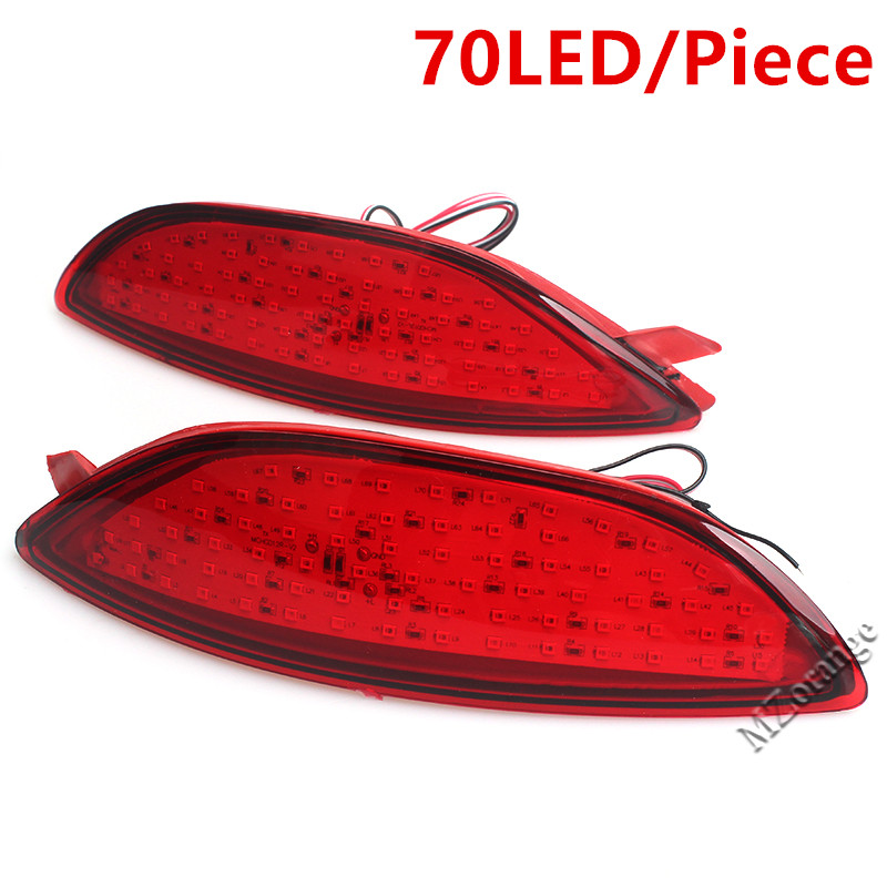 For Hyundai Accent Verna Brio Solaris 2008-2015 Rear Bumper Reflector Brake Light Red Lens LED Bulb Car Warning Stop Fog Lamp цена