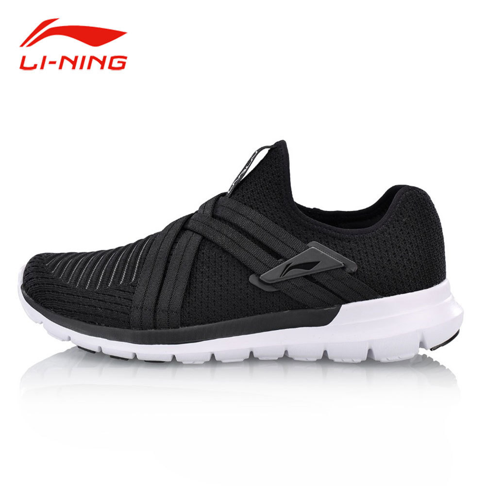Li-Ning Men Summer LightWeight Running Shoes FLEX RUN V2 Breathable Sneakers Drawstrings Support LINING New Sports Shoes ARKN005