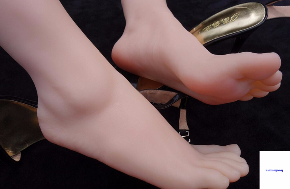 new sexy female mannequin foot coming silicone model realistic foot ,feeling real skin silicone mannequin foot model, toys new 2pcs female right left vivid foot mannequin jewerly display model art sketch