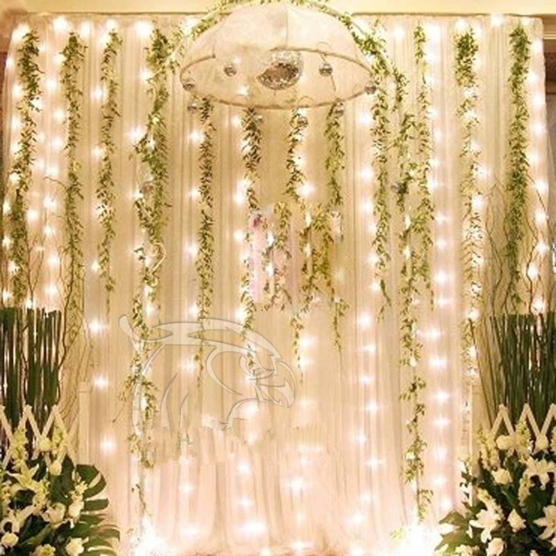 Fairy 3x3m LED Curtain string light Waterproof New Year Christmas Decoration Wedding Party night light lamp home garden lighting 3x3m led curtain string light fairy new year christmas garland decoration led waterproof lamp wedding party indoor outdoor decor