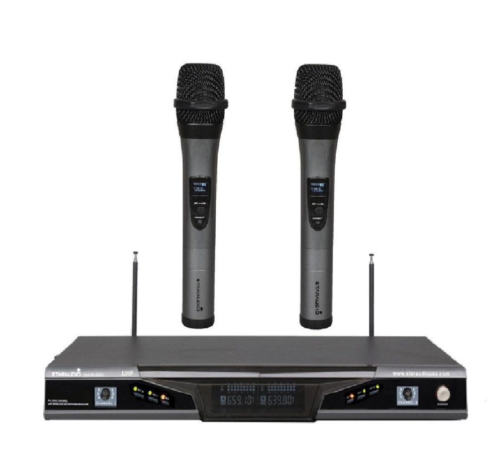 STARAUDIO SMUB-2005A 2CH UHF Wireless Pro PA DJ Stage Church Dual Handheld Microphone System Mic