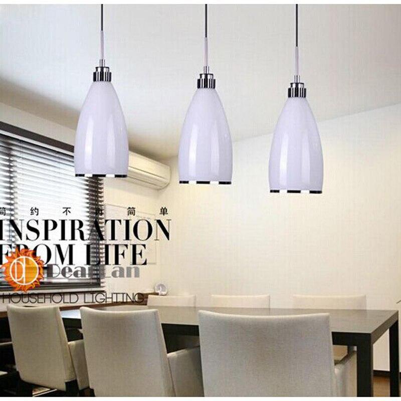 White Cylindrical Modern Pendant  Parlor Restaurant LED Item Choose  Modern White Glass Pendant Lamp Free Shipping