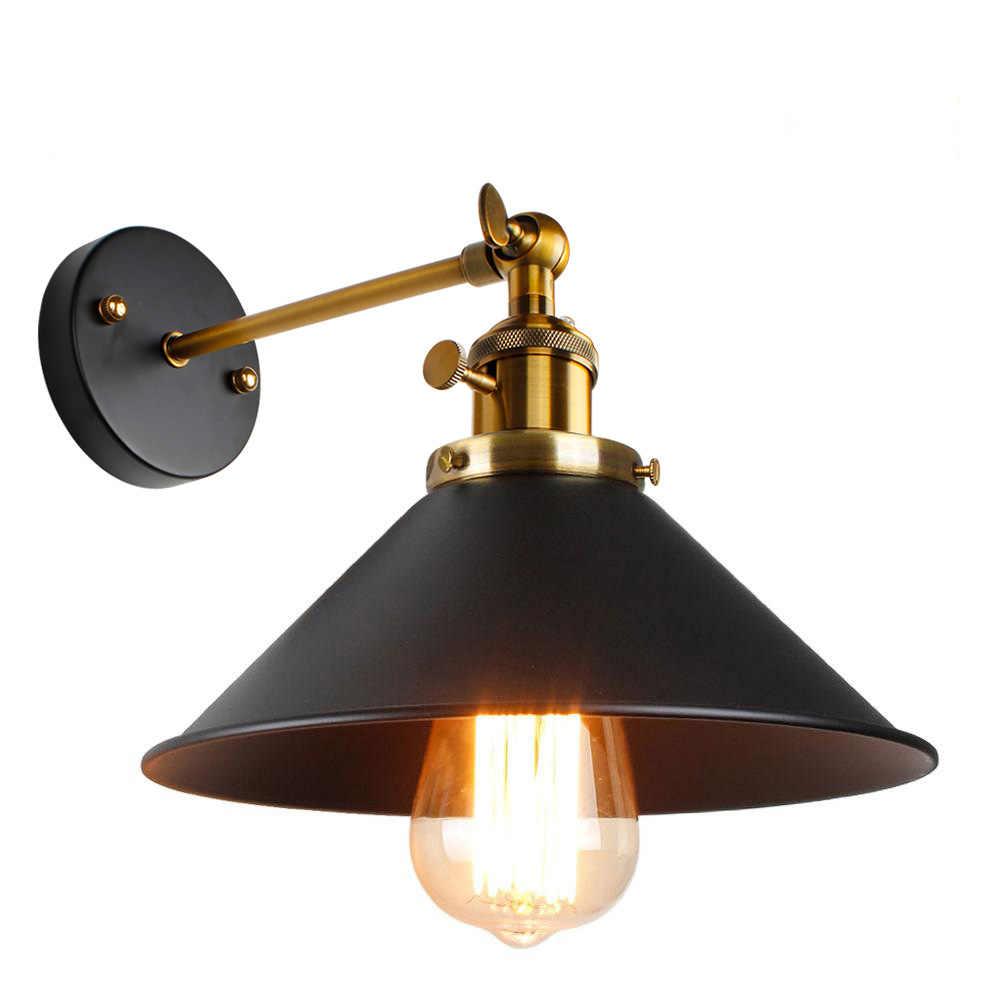 Винтажная настенная лампа, освещение в помещении, настенный выключатель, ретро бра, черно-белая крышка, прикроватные лампы, E27, для дома и магазина
