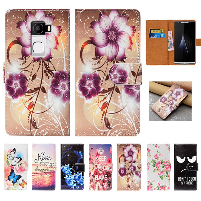 For Oukitel K10000 Mix Case High Quality Pu Leather 5.5 Flip Wallet Case Back Cover Book ...