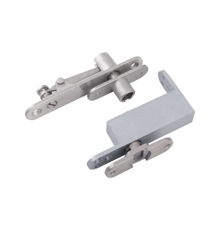 Premintehdw 304 stainless steel adjustable self soft close pivot hinge wooden door 1 pair 4 inch furniture hinge stainless steel hinge door hinge satin finish lash hinge