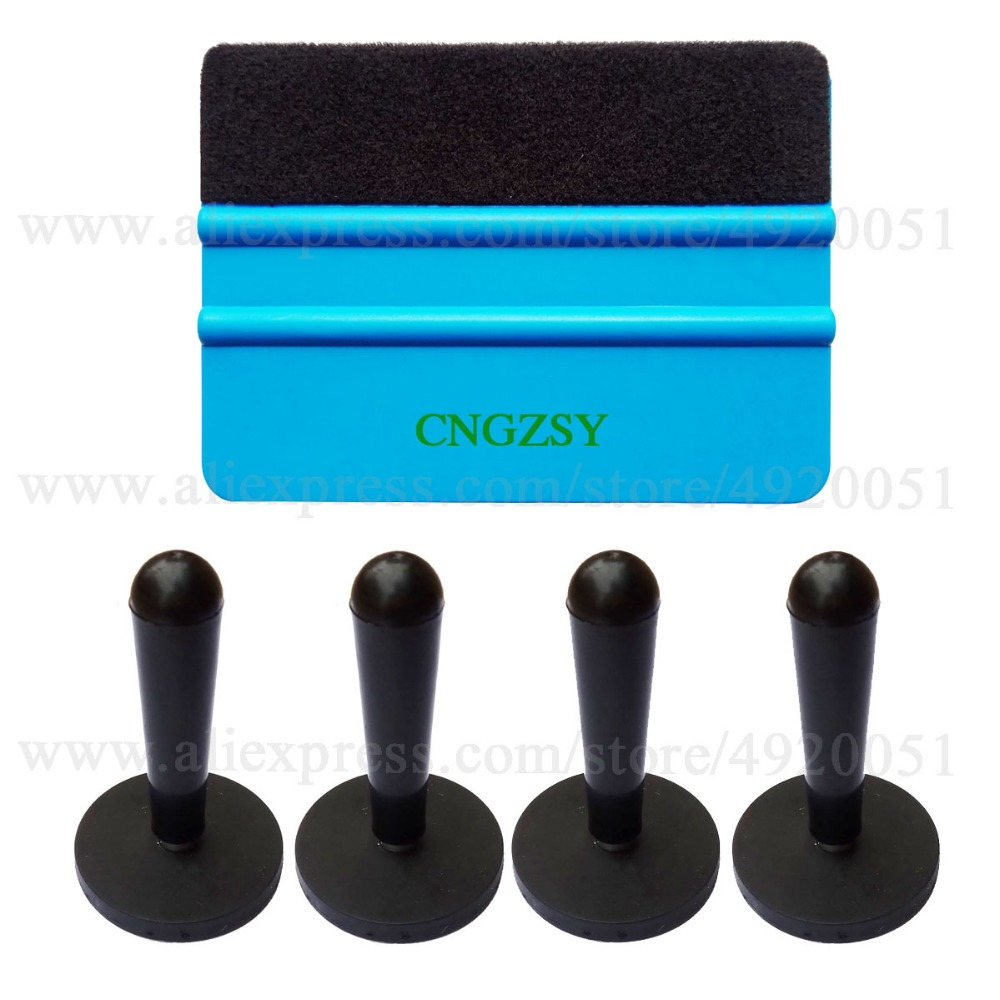 Vinyl Car Wrap Auto Window Tint Tool Set Wrapping Squeegee Car Stickers Styling Gripper Magnetic Holder