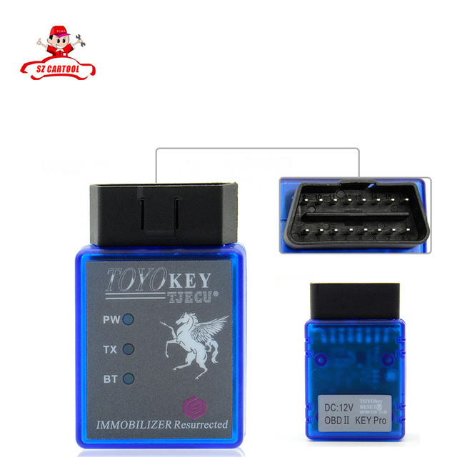 2016 Free shipping TOYO KEY Toyokey OBDII Key Pro Work with Mini CN900 or Mini 900 Support G H and 8A Chip All Key Lost