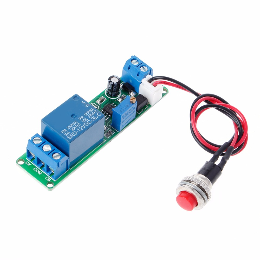 DC 12V Timing Timer Delay Turn OFF Switch Relay Module 1~10s Adjustable Power Supplies