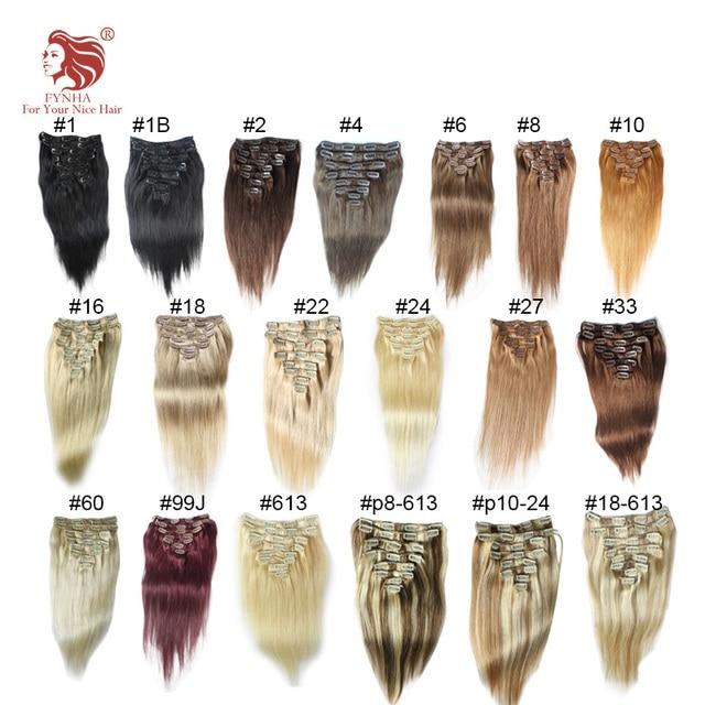 120g/pac grado 6A natural clip recto en extensiones de cabello humano 100% remy del pelo 16 ''-24'' se pueden personalizar envío rápido